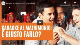 karaoke al matrimonio